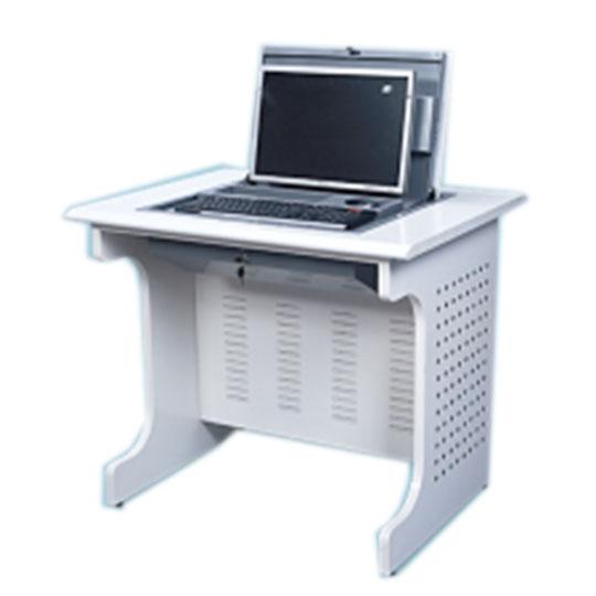 华礼龙 钢木台、桌类 电脑桌 钢木结构 单人位(主机位后置)面板带电脑主机开关和两个USB口 L900*W700*H760mm D-009