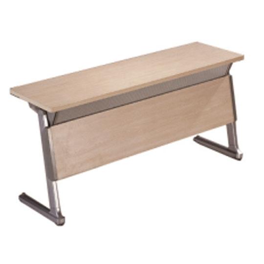 华礼龙 钢木台、桌类 HD-02B 条桌 培训桌 E1级高密度刨花板 榉木皮贴面W1800*D600mm*H750mm 钢管长83 mm,宽35 mm,厚度T1.5mm